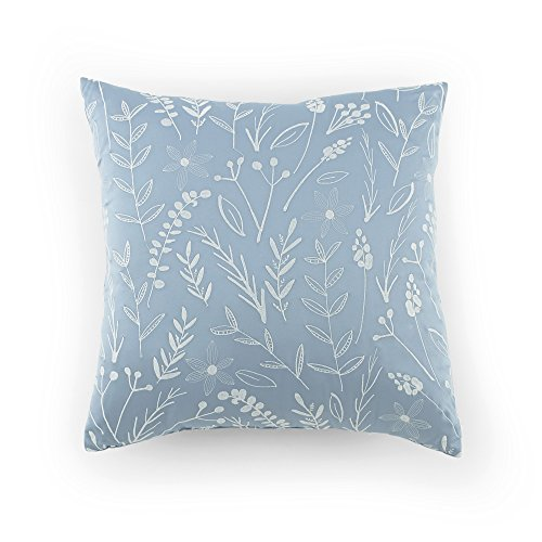 Kathy Davis Tranquility Embroidered Leaf Decorative Pillow, 18