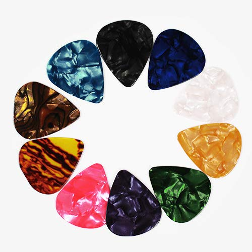 Yeshi 10pcs Colorful Musical Accessories Universe Planet Guitar Picks Mixed Plectrum for Electric, Acoustic,or Bass Guitar including 0.46mm 0.71mm 1mm size 0.71 mm