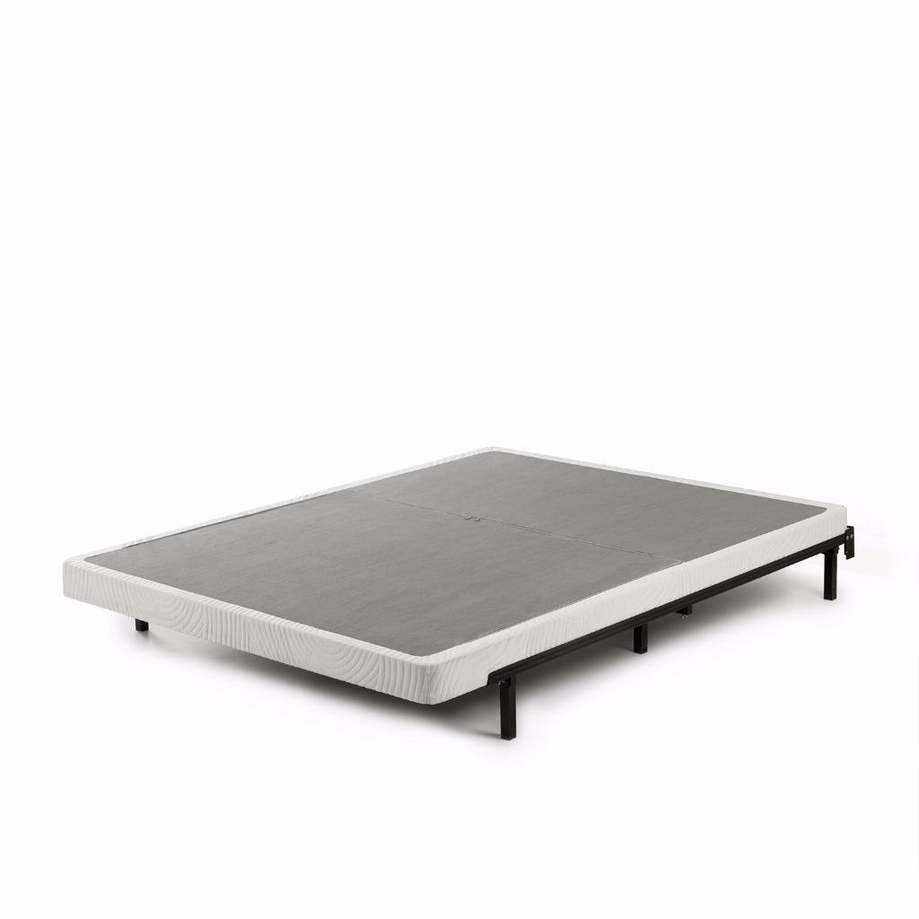 Zinus Jayanna 4 Inch Low Profile BiFold Box Spring / Folding Mattress Foundation / Strong Steel Structure / No Assembly Required, Split King - OLB-BIFD-4K