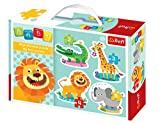 Trefl Baby Classics 2-3-4 and 5 Piece Puzzles: Safari Animals Four in A Box