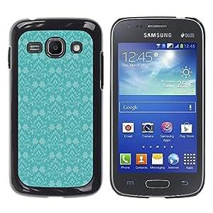 WonderWall Fondo De Pantalla Imagen Diseño Trasera Funda Carcasa Cover Skin Case Tapa Para Samsung Galaxy Ace 3 GT-S7270 GT-S7275 GT-S7272 - azul pintado retro viejo de la vendimia