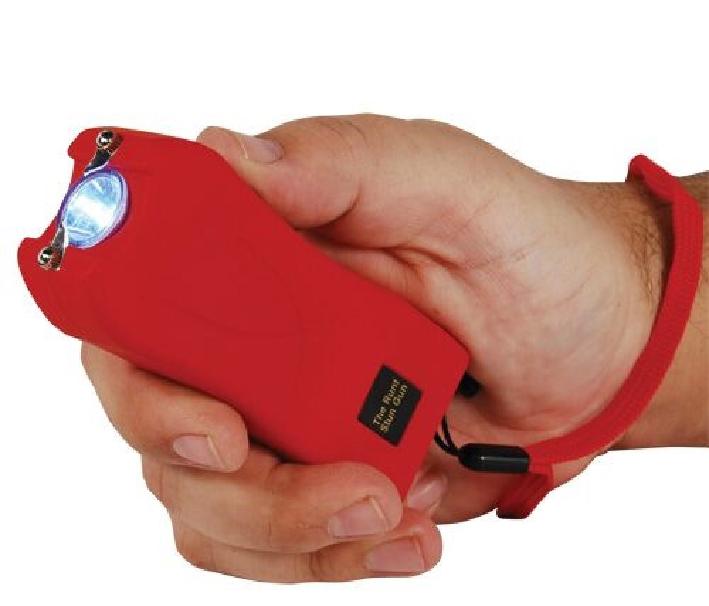 RUNT Red 20 Million Volt Stun Gun Home Self Defense Weapon with LED Flashlight