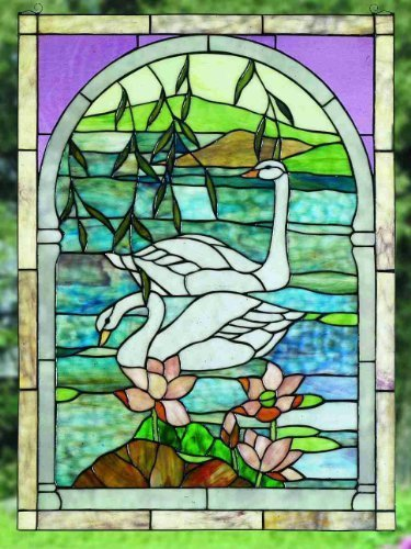 22 Inch X 30 Inch Swans Window Windows by Meyda Lighting