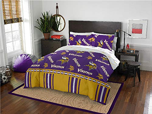 Minnesota Vikings NFL Queen Comforter & Sheets, 5 Piece NFL Bedding, New! + Homemade Wax - Nfl Football Bedding Queen Comforter