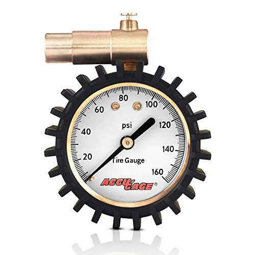 Accu-Gage Presta Valve Bicycle Tire Pressure Gauge, 160psi