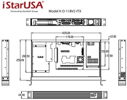 TC-1U27FX8 Butch and Harold Istarusa Kit D-118V2-ITX DD-FAN-4CM-Q
