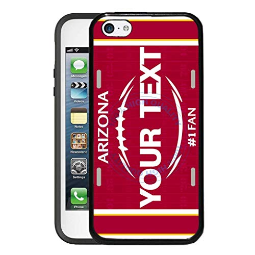 BRGiftShop Personalize Your Own Football Team Arizona Rubber Phone Case For Apple iPod Touch 5th & 6th Generation