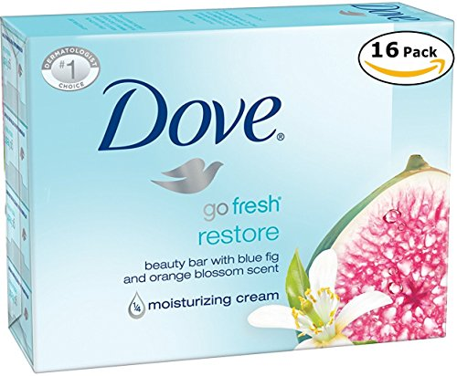 - Dove Beauty Cream Bar Soaps Go Fresh Restore Moisturizing 16 Bars, 4.76 Oz/135 Grams Each