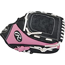 """Rawlings  Youth Players Series Glove, Black/Grey/Red, 11"""", Worn on Left Hand"""