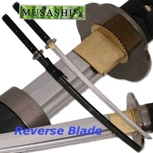 Musashi Rurouni Kenshin Hand Forged Reverse Blade Katana Full Tang (Limited Edition)