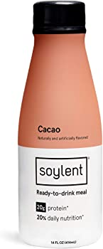 12-Pack Soylent Meal Replacement Shake, Cacao 14-Oz Bottles