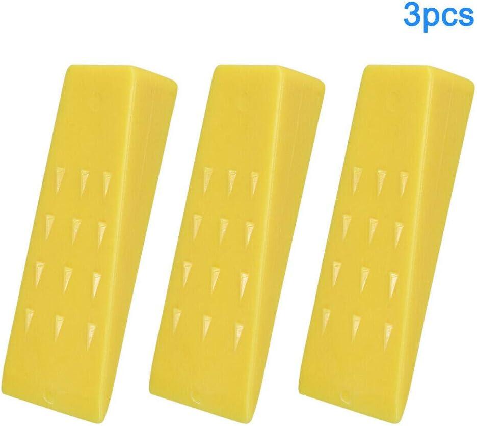 praktisch gezahnte F/ührung Spaltstabilisierung langlebig Wie abgebildet Kettens/äge tragbar f/ür Holz einfach zu bedienen Free Size Spaltkette 12,7 cm Faderr F/ällkeil 3 St/ück sicher