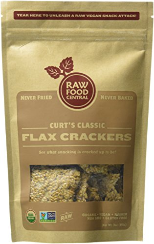 Raw Food Central Curt's Classic Flax Crackers 100% Organic NON GMO Gluten Free (Flax Crackers)