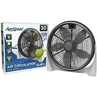 Aerospeed 3-Speed 20 in. Air Circulator Aerospeed Fan - GREY