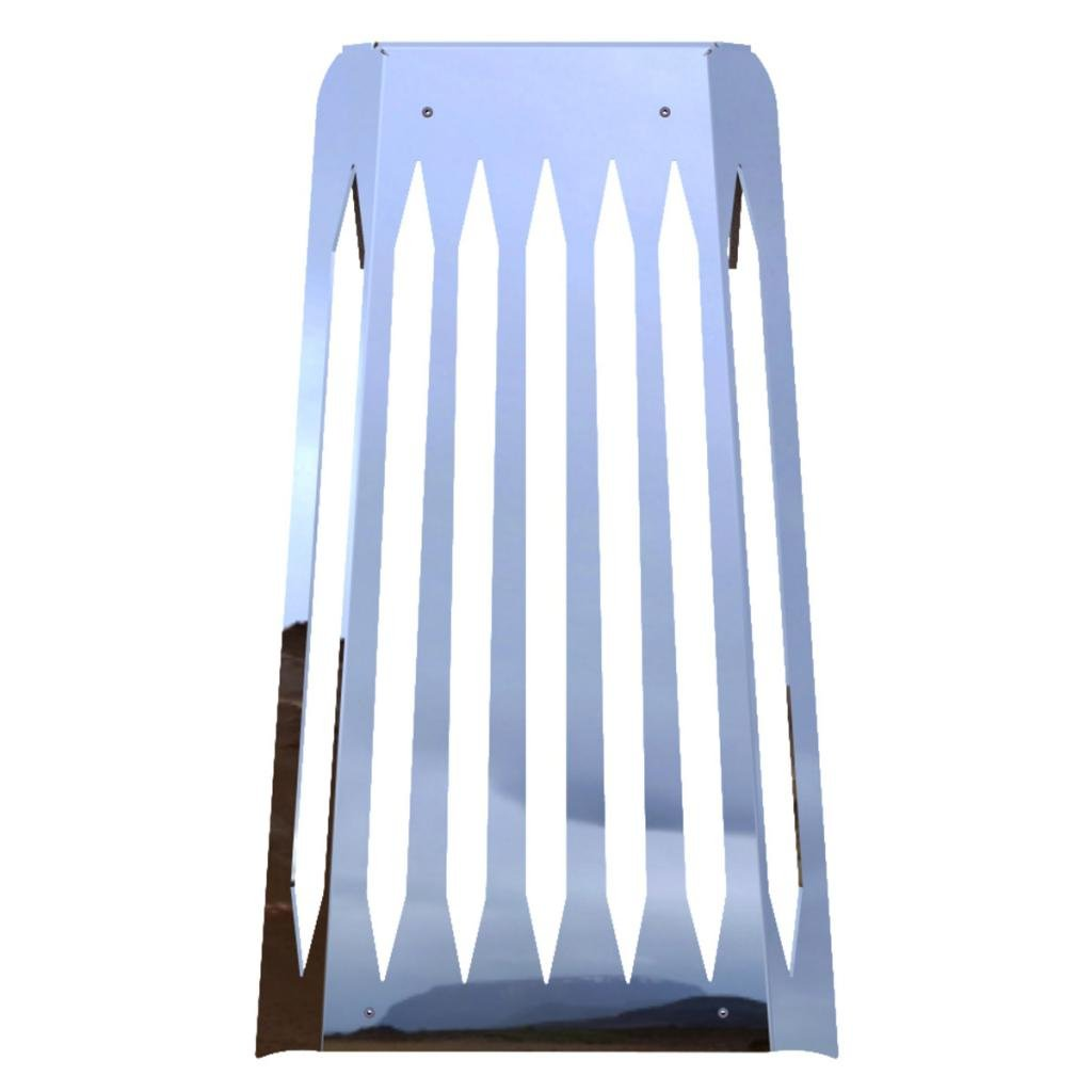 Blade Polished Stainless Radiator Cover Grill Guard fits: 2010-2016 Honda Fury VT1300 - Ferreus Industries - GRL-100-11