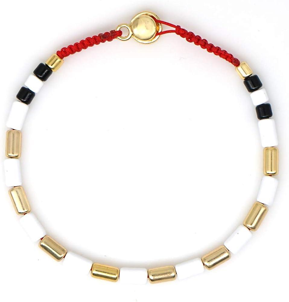 KANYEE Boh/émien Bien Chance Friendship Bracelet Cordon Mince Rope Perle Amiti/é Bracelet pour Femmes Filles
