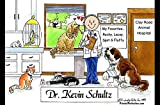 Personalized Friendly Folks Cartoon Side Slide Frame Gift: Veterinarian - Male Great for animal hospital, thank you gift, veterinary office