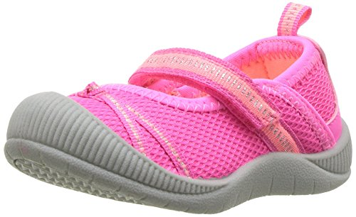 OshKosh B'Gosh Girls' Dexy Athletic Bumptoe Mary Jane Flat, Pink, 7 M US Toddler -