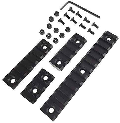 SportPro SP 20mm Aluminium Picatinny Rail Sections A for KeyMod Handguard 5 Pack Airsoft – Black by SportPro