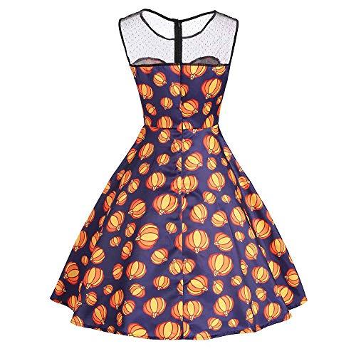 1950 Robes Vintage, Les Femmes Citrouille Soirée De Bal Sans Manches Robe Moulante Balançoire Avec Ceinture Suncatcher Orange #