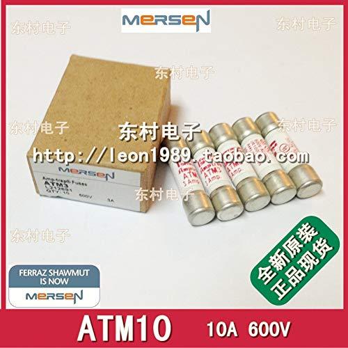 (Davitu [SA]MERSEN fuse FERRAZ Shawmut AMP-TRAP fuse ATM10 10A 600V-5PCS/LOT)