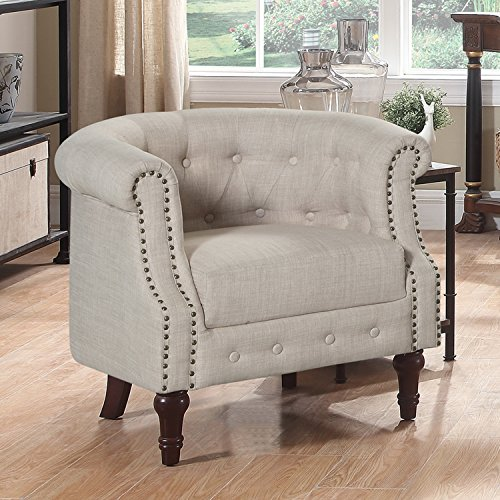 Rosevera Barrel Chair Sandy Beige