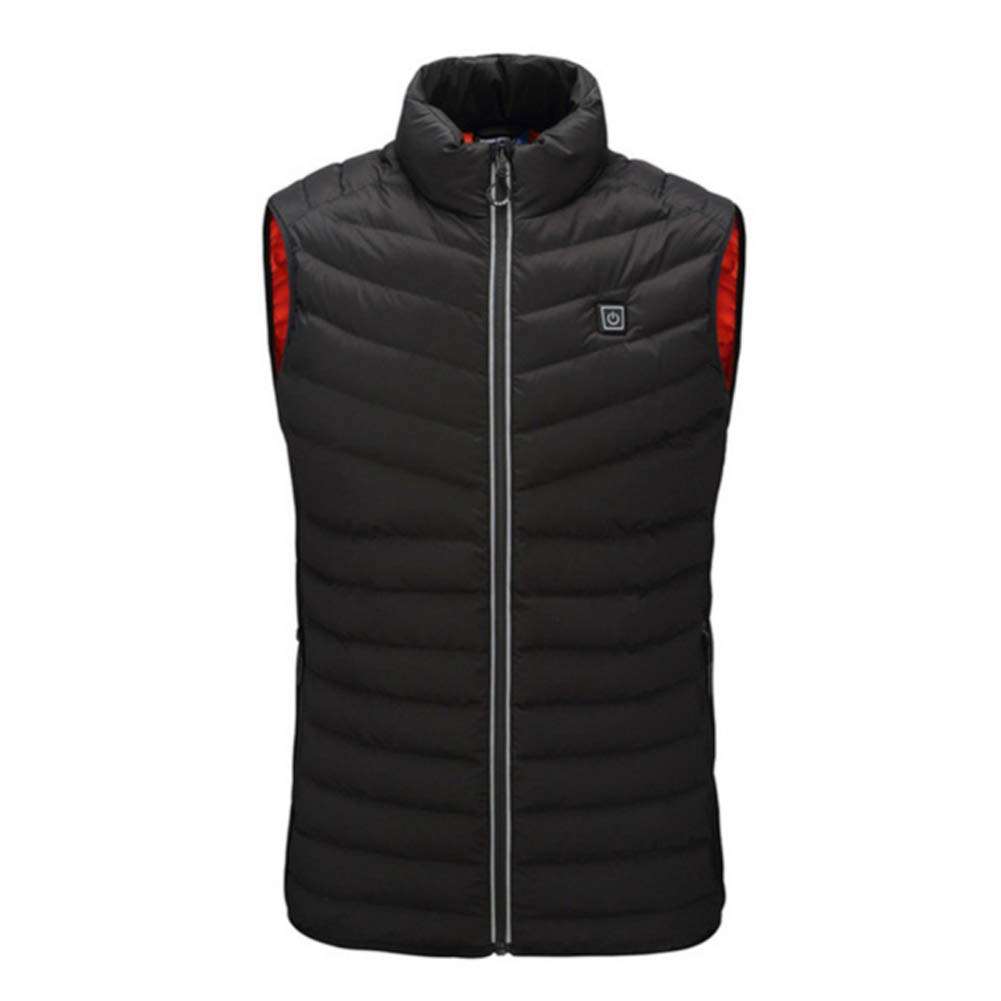 DYWOZDP Elektrische Beheizte Weste, USB-Lade Beheizte Jacke, warme Wärmejacke mit 3 Optional Temperatur, geeignet für den Winter Ski Wandern Campin Angeln Outdoor Sport