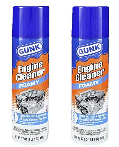 Gunk FEB1 Foamy Engine Brite Engine Cleaner - 17oz. 2 Pack (Engine Degreaser Cleaner)