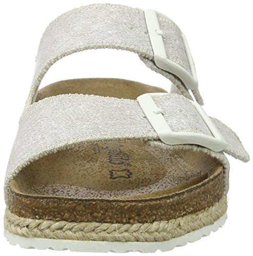 P-A Arizona Birko-Flor - Mules Mujer Grau (Beach Ligth Grey)