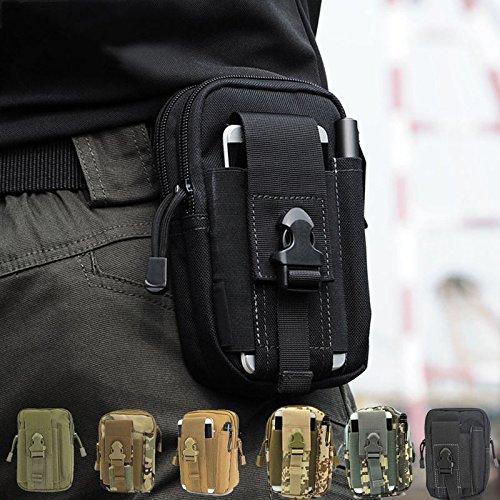 CAMTOA Leicht klein Tactical Hip Bag Hüfttasche Beintasche,Mode Multifunktional Handytasche für Camping Wandern Outdoor Schwarz