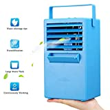 Madoats Mini Space Cooler 9.8-inch Portable Air Conditioner Fan Small Desktop Fan Personal Table Fan Mini Evaporative Air Cooler Cooling Mist Humidifier Spray Fan