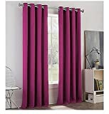 Newport College Cotton Grommet Window Curtain Panel Purple 50''x 84'' Length