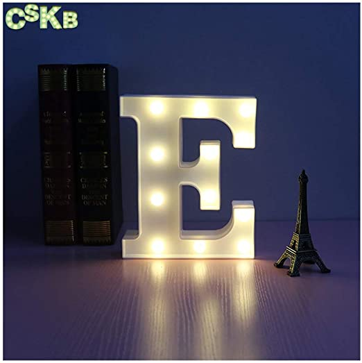 CSKB LED Marquee Letter Lights Alphabet Light Up Marquee Letters Sign For Wedding Birthday Party Battery Operated Christmas Night Light Lamp Home Bar Decoration I