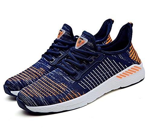 Corrientes Deportes del Zapatos Ligeros Respirables Aire Zapatos los Corrientes 36 la 45 XIE la de de la Verano Zapatos Marea Libre Pareja de de Orange Grandes al Manera YqCz1
