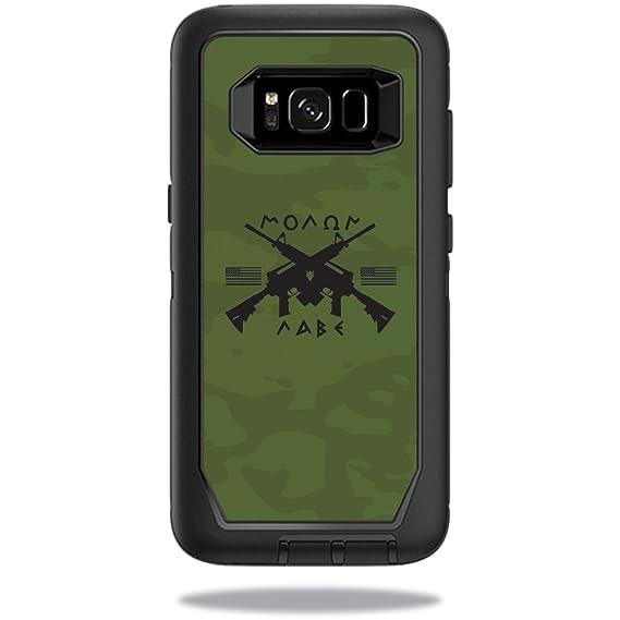 new concept fd893 2b085 MightySkins Skin Compatible with OtterBox Defender Samsung Galaxy S8 Case  Sticker wrap Cover Sticker Skins Molon Labe