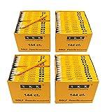 SKKSTATIONERY Golf Pencil, Half Pencils, 3.5'' Pencils, 2 HB pencil Sharpened, 144/box, Golf, Classroom, Pew, Short, Mini - (box of 4)
