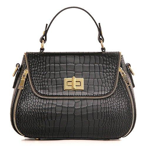 CherryGoddy Crocodile Pattern Handbag Fashion Shoulder Diagonal Lock Bag PU Leather Handbag For Women(Red)