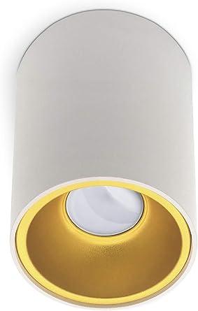 Aufbauleuchte Deckenleuchte LED GU10 230V Aufputzleuchte Spot Weiß Schwarz Gold