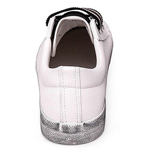 Pu-slip Voor Dames Van Sneaker Skate-sneakers Wit