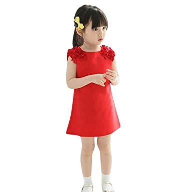 OPAKY Vestido Vintage de Niñas para Fiesta Cóctel Vestido Algodón ...