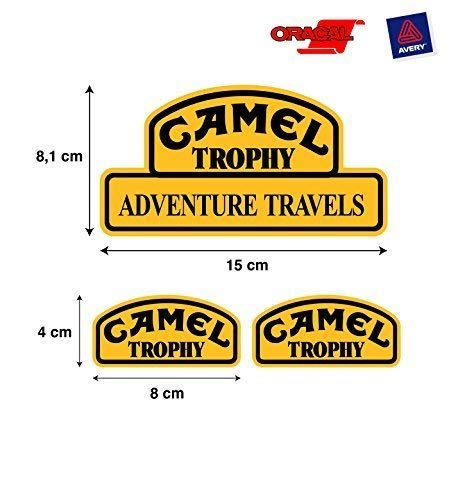 Aufkleber Aufkleber Camel trophy Land Rover jeep 4X4 hochwertig 3 Einheiten mod 1 STICKERS RACING