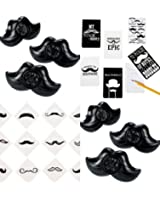 60 pc mustache party favors set of 12 moustache notepads 12 - Mustache Party Invitations
