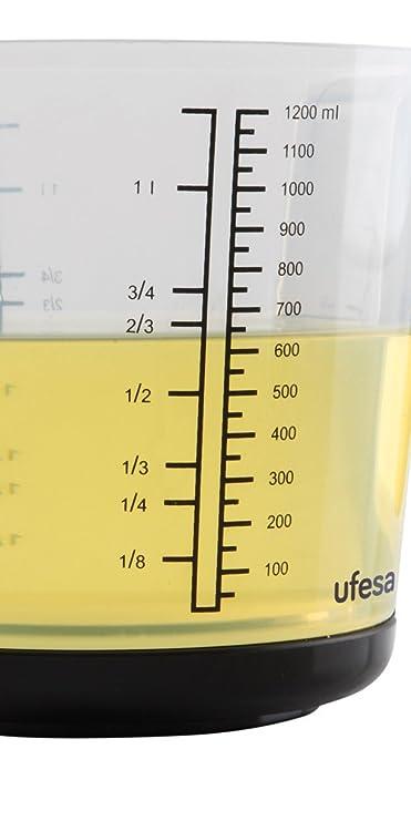 Ufesa BC1400 BC1400-Báscula de Cocina, Capacidad: 3 Kg, Precisión: 1 g, Negro: Amazon.es: Hogar
