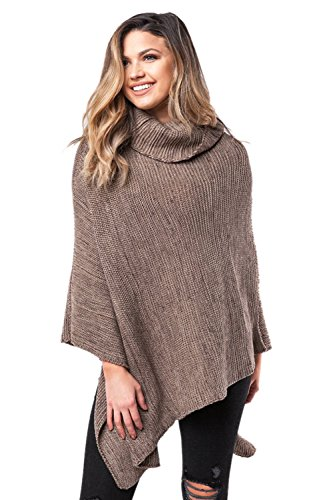 Plain, knitted poncho top.