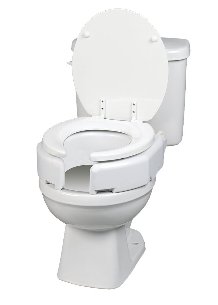 Maddak Secure-Bolt Hinged Elevated Toilet Seat, Elongated (725680001) by SP Ableware