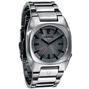 Nixon A064131-00 - Reloj analógico de cuarzo para hombre con correa de acero inoxidable, color plateado