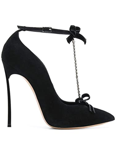 824e905b5b8 Image Unavailable. Image not available for. Color  Casadei Women s  1F525l120hy606000 Black Suede Pumps