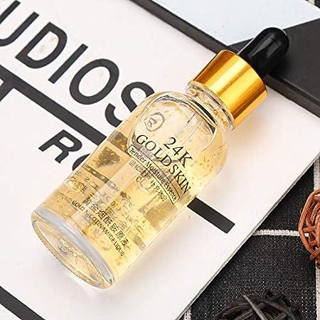 Serum facial, suero hidratante antienvejecimiento de oro de 24 k para reducir el poro, hidratar y aclarar la piel, mejorar la piel seca y sin brillo, cuidado diurno y nocturno(30ml)