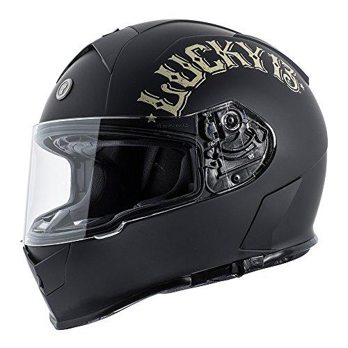 - TORC Unisex-Adult Full Face helmet (Flat Black Bullhead, Large)