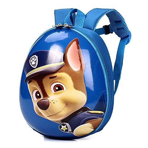 Chase Backpack - Toddler Backpack, Waterproof Preschool Backpack, PAW Patrol 3D Cute Cartoon surface Schoolbag for Kids,Lunch Box Carry Bag